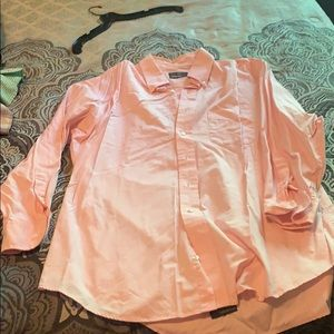 Club room pink long sleeve button up